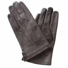 Перчатки мужские кожаные на шелке Edmins Э-2M-1 мод. 7 коричневый