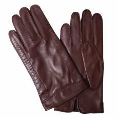 Перчатки мужские кожаные без подкладки Edmins Э-Арт4 мод. 65 коричневый
