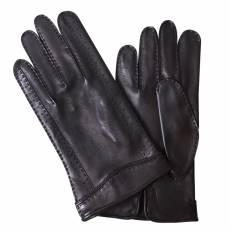 Перчатки мужские кожаные на шелке Edmins Э-Арт4 мод. 65 черный