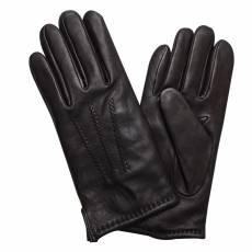 Перчатки мужские кожаные на шерсти Edmins В-4M мод. 1104 черный