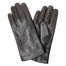 Перчатки мужские кожаные на нат. меху Edmins Э-22M мод. 5а темно-коричневый