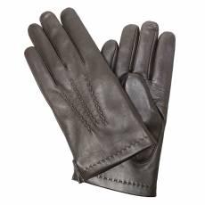 Перчатки мужские кожаные на нат. меху Edmins Э-22M мод. 7 темно-коричневый