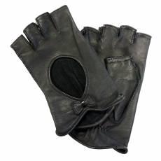 Перчатки без пальцев женские кожаные Edmins Э-Арт5 мод. 504 черный