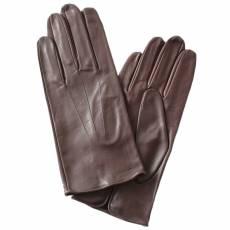 Перчатки мужские кожаные на шелке Edmins Э-2M-1 мод. 6 темно-коричневый