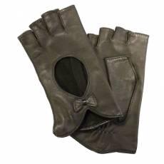 Перчатки без пальцев женские кожаные Edmins Э-Арт5 мод. 504 коричневый