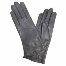 Перчатки женские кожаные на шерсти Edmins Э-21L мод. 606а серый