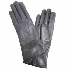 Перчатки женские кожаные на шерсти Edmins Э-21L мод. 607 черный