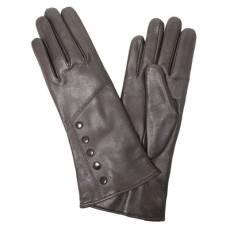Перчатки женские кожаные на шерсти Edmins Э-21L мод. 608 черный