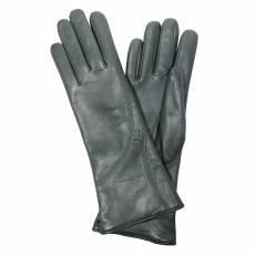 Перчатки женские кожаные на шерсти Edmins Э-21L мод. 614 черный