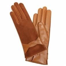 Перчатки женские кожаные на шерсти Edmins Э-21L мод. 619а оранжевый