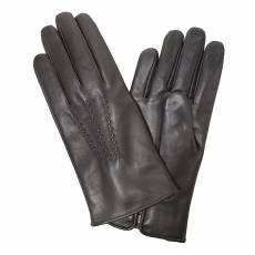 Перчатки мужские кожаные на нат. меху Edmins Э-22M мод. 11 черный