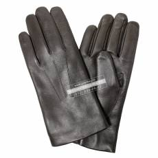 Перчатки мужские кожаные на нат. меху Edmins Э-42M мод. 5 черный