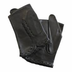 Перчатки женские кожаные без подкладки Edmins Э-20L мод. 503а черный