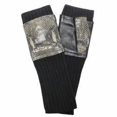 Перчатки женские вязаные шерсть+кашемир Edmins Э-21L мод. 7790 черный