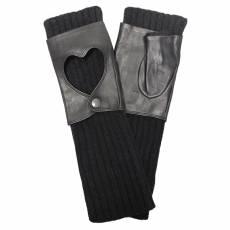 Перчатки женские вязаные шерсть+кашемир Edmins Э-21L мод. 8497 черный