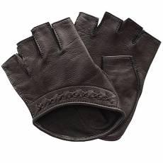 Перчатки без пальцев женские кожаные Edmins Э-Арт5 мод. 528 коричневый