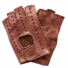 Перчатки без пальцев женские кожаные Edmins Э-Арт5 мод. 401 терракот