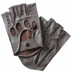 Перчатки без пальцев мужские кожаные Edmins Э-40M мод. 42а коричневый