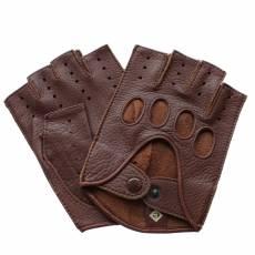 Перчатки без пальцев мужские кожаные Edmins Э-40M мод. 42а рыжий