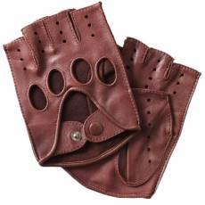 Перчатки без пальцев мужские кожаные Edmins Э-20M мод. 42а рыжий