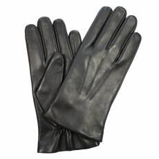 Перчатки мужские кожаные на нат. меху Edmins Э-22M мод. 5а черный