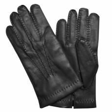 Перчатки мужские кожаные на нат. меху Edmins Э-23M мод. 24 черный