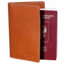 Обложка для паспорта PERSON ОП-S  Апачи рыжий