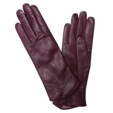 Перчатки женские кожаные на шерсти Edmins Э-2L мод. 335 фиолетовый -7