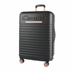 Чемодан пластиковый Cavalet 856-75-11 black&pink