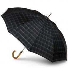 Зонт-трость Knirps мужской полуавтомат Long Automatic CHECK BLACK BLUE 79923557
