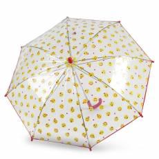 Зонт-трость s.Oliver детский механический KIDS SMILING TRANSPARENT 72654SO23-RED