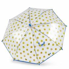 Зонт-трость s.Oliver детский механический KIDS SMILING TRANSPARENT 72654SO23-BLUE