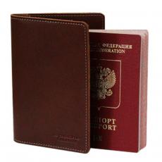 Обложка для паспорта PERSON ОП-S Апачи коричневая
